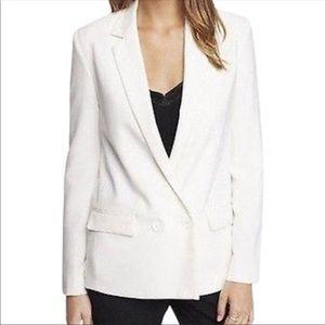 EXPRESS || NWT double breast white blazer 0
